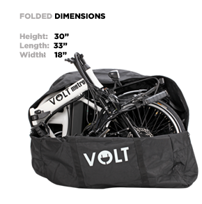 folding electric bike dimensions