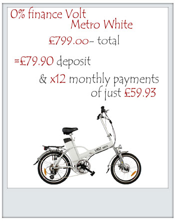 Example of Finance option for the Volt Pulse Electric bike